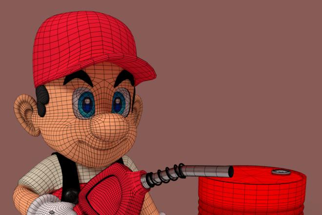 3D персонаж для игрового проекта 18 - kwork.ru