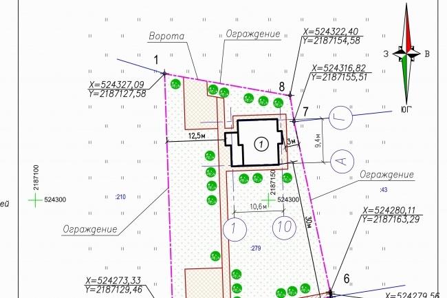 Схема планировочной организации земельного участка - спозу 36 - kwork.ru
