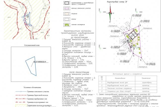 Схема планировочной организации земельного участка - спозу 32 - kwork.ru
