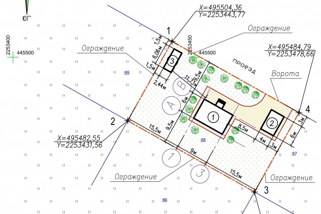 Схема планировочной организации земельного участка - спозу 29 - kwork.ru