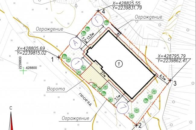 Схема планировочной организации земельного участка - спозу 28 - kwork.ru