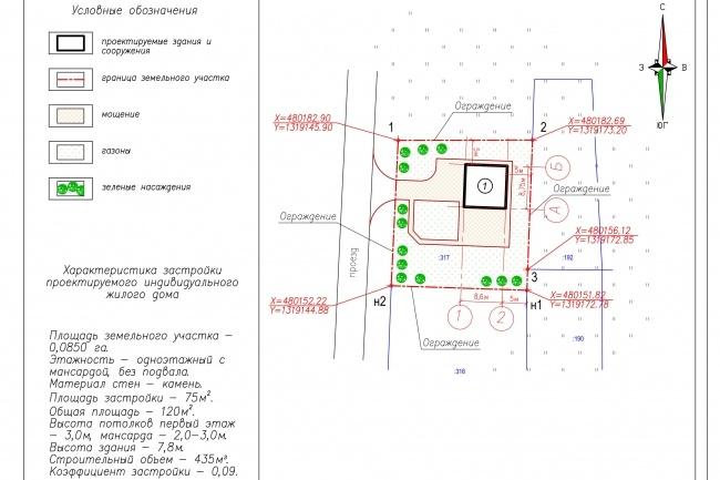 Схема планировочной организации земельного участка - спозу 43 - kwork.ru