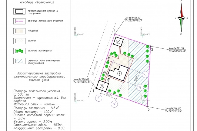 Схема планировочной организации земельного участка - спозу 42 - kwork.ru
