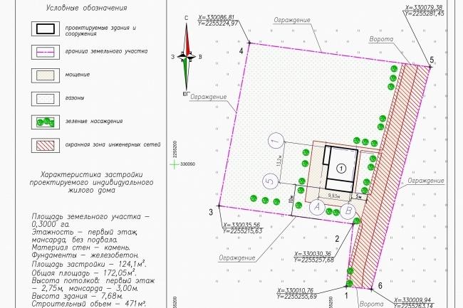 Схема планировочной организации земельного участка - спозу 40 - kwork.ru