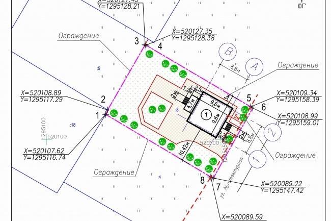 Схема планировочной организации земельного участка - спозу 38 - kwork.ru