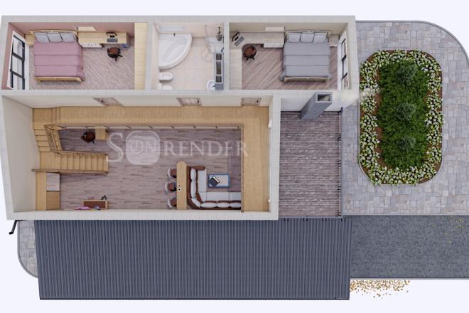 Фотореалистичная 3D визуализация экстерьера Вашего дома 20 - kwork.ru