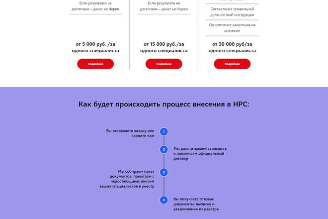 Создание современного лендинга на конструкторе Тильда 72 - kwork.ru