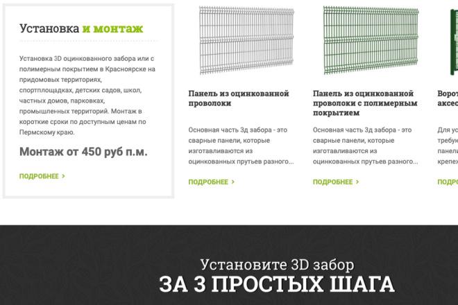 Скопирую Landing page, одностраничный сайт и установлю редактор 94 - kwork.ru