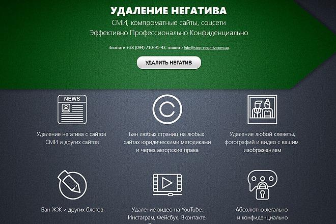 Скопирую Landing Page, Одностраничный сайт 42 - kwork.ru
