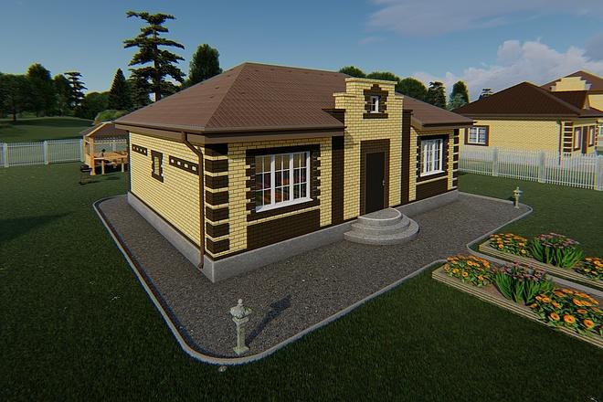 Фотореалистичная 3D визуализация экстерьера Вашего дома 168 - kwork.ru
