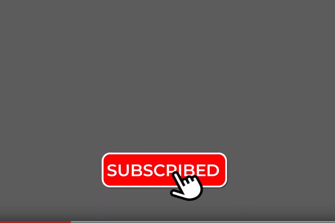 Подписаться. Готовая анимация кнопки с колокольчиком для You Tube 2 - kwork.ru
