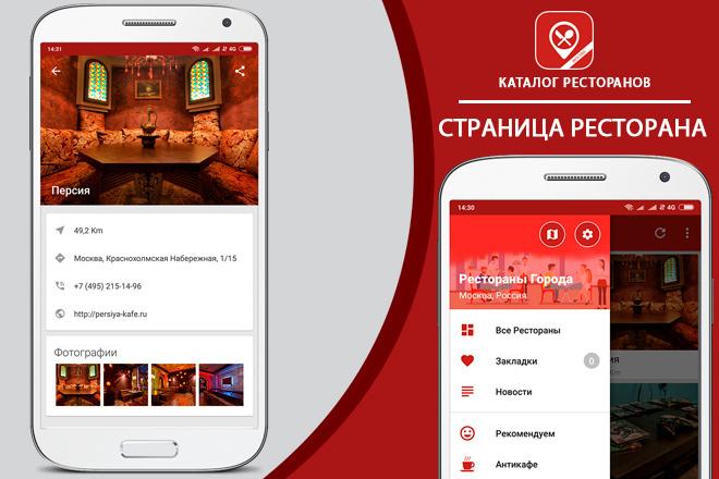 Приложение - Каталог Ресторанов 5 - kwork.ru