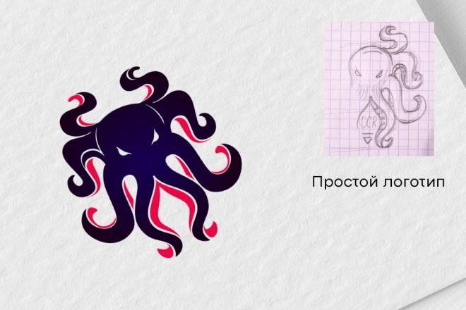 Логотип в векторе по вашему эскизу 5 - kwork.ru