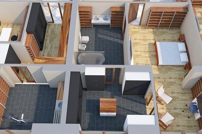 Создам планировку дома, квартиры с мебелью 71 - kwork.ru