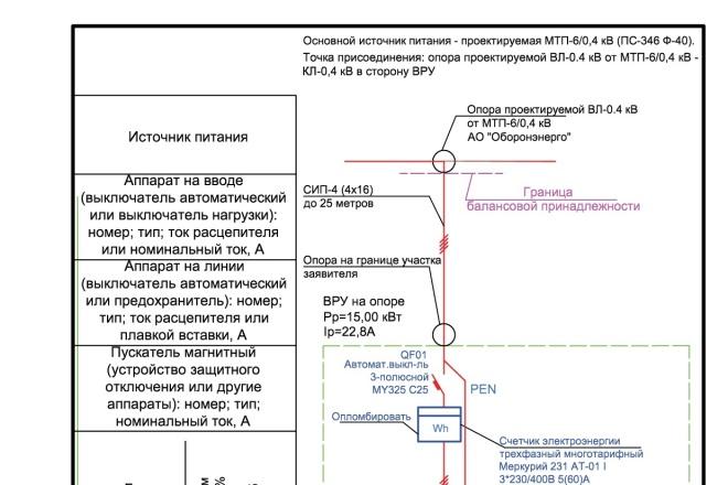 Выполню однолинейную схему электроснабжения 35 - kwork.ru