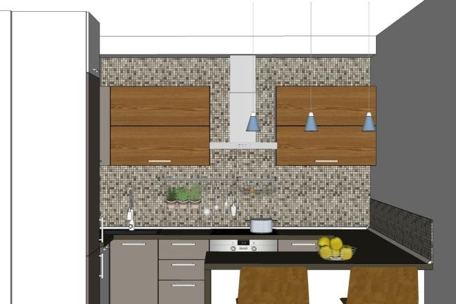 Дизайн-проект кухни. 3 варианта 9 - kwork.ru