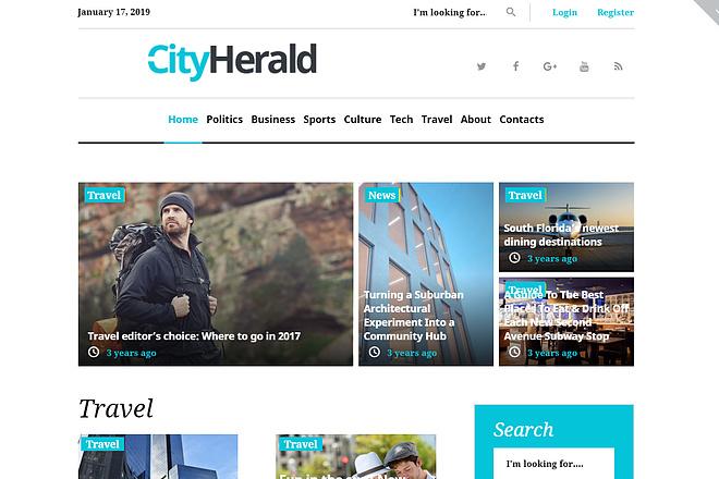 Премиум тема CityHelard для Wordpress + бонус 1 - kwork.ru