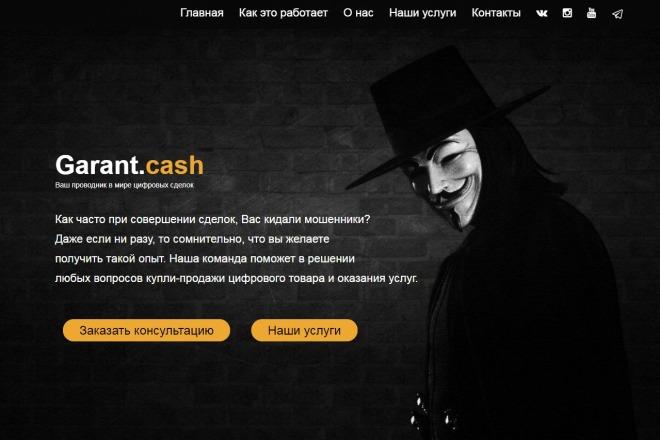 Скопирую Landing Page, Одностраничный сайт 3 - kwork.ru