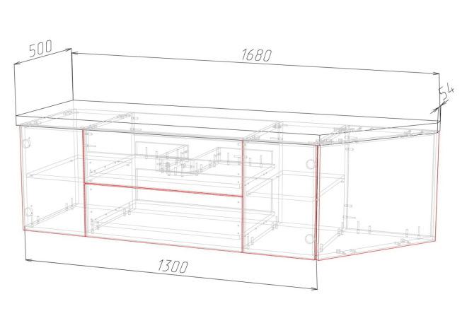 Конструкторская документация для изготовления мебели 36 - kwork.ru