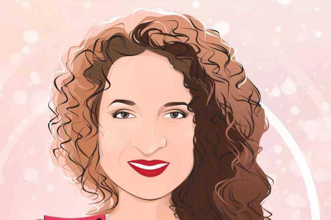 Векторный портрет 2 - kwork.ru