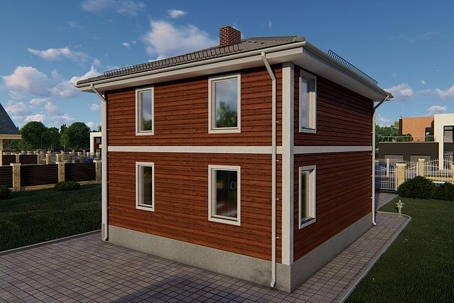 Фотореалистичная 3D визуализация экстерьера Вашего дома 141 - kwork.ru