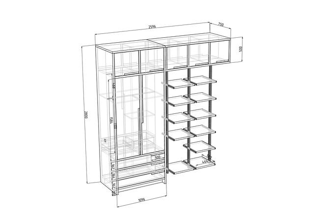 Проект корпусной мебели, кухни. Визуализация мебели 50 - kwork.ru