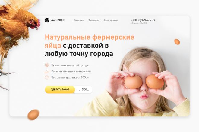 Дизайн первого экрана лендинга 2 - kwork.ru