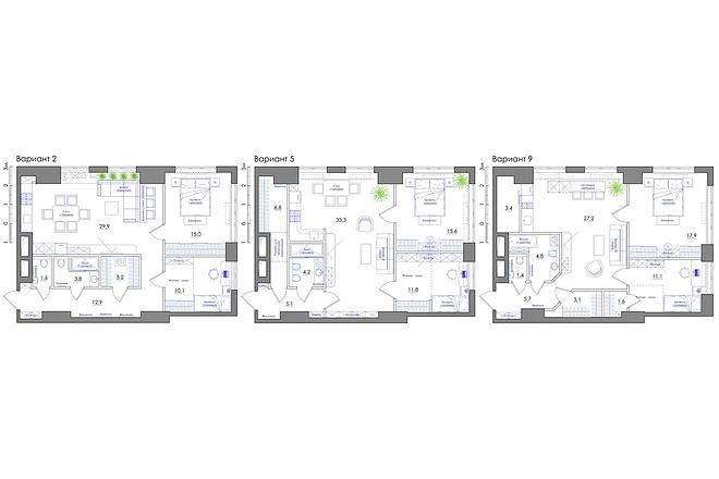 Планировка квартиры или жилого дома, перепланировка и визуализация 46 - kwork.ru
