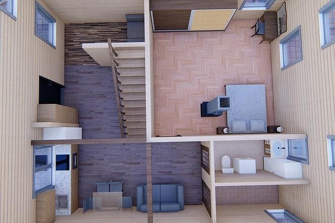 Фотореалистичная 3D визуализация экстерьера Вашего дома 135 - kwork.ru