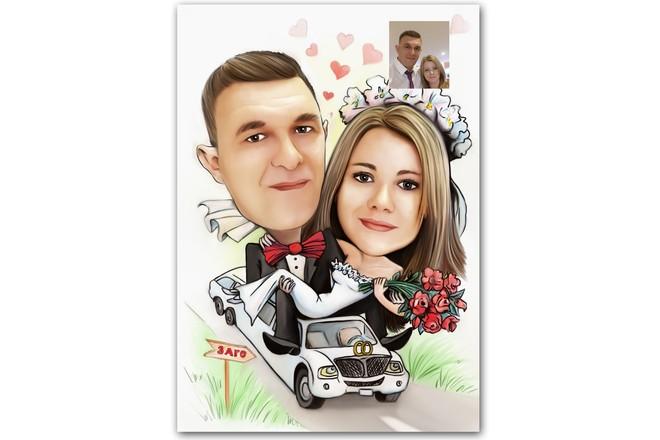 Шарж по фото 31 - kwork.ru