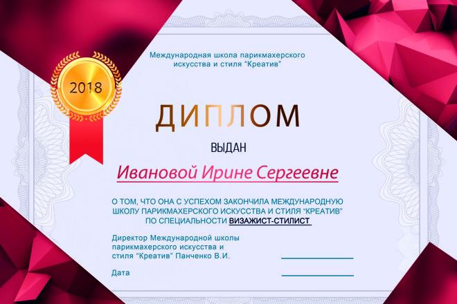 Дизайн Диплома, Сертификата, Благодарности, Грамоты 3 - kwork.ru