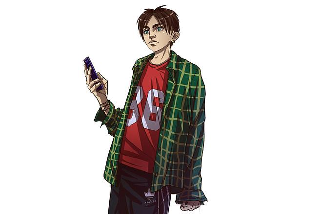 Иллюстрационный портрет по фотографии в стилях Манга или Аниме 17 - kwork.ru