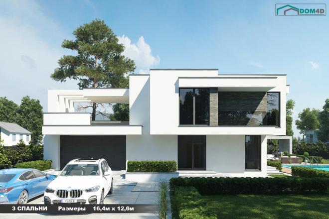 Качественная 3D визуализация фасадов домов 3 - kwork.ru