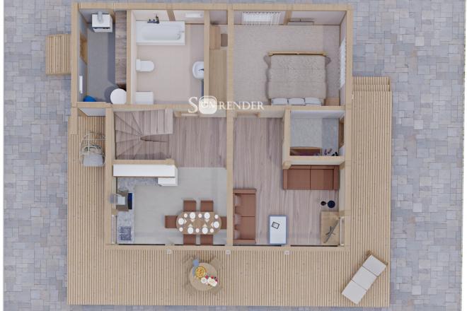 Фотореалистичная 3D визуализация экстерьера Вашего дома 10 - kwork.ru