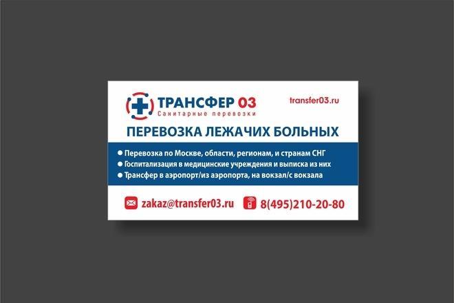 Дизайн визитки 50 - kwork.ru