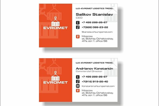 Дизайн визитки 34 - kwork.ru