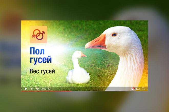 Грамотная обложка превью видеоролика, картинка для видео YouTube Ютуб 5 - kwork.ru