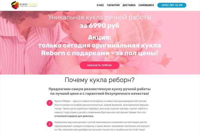 Создам сайт-одностраничник лендинг + 2 подарка 14 - kwork.ru
