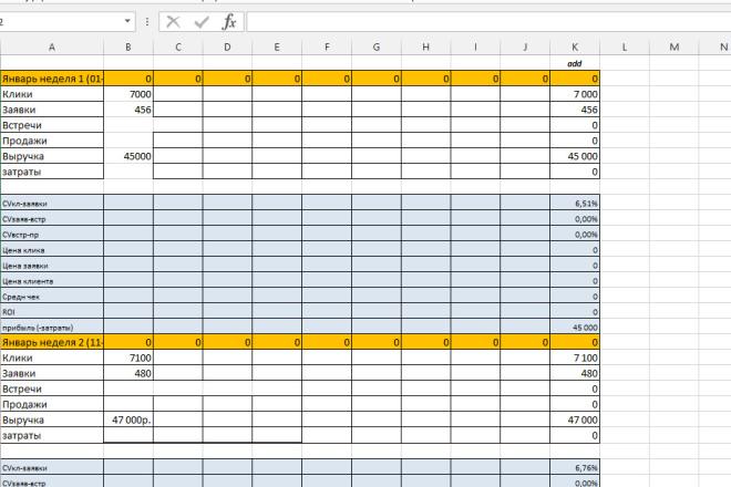 Excel формулы, сводные таблицы, макросы 60 - kwork.ru