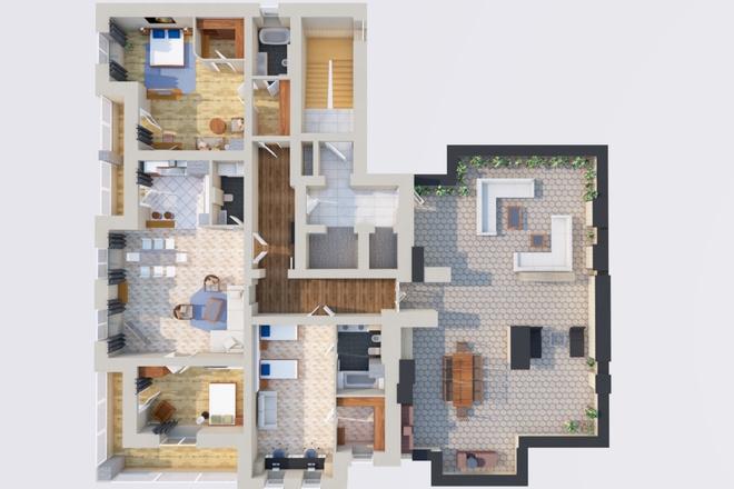 Создам планировку дома, квартиры с мебелью 17 - kwork.ru