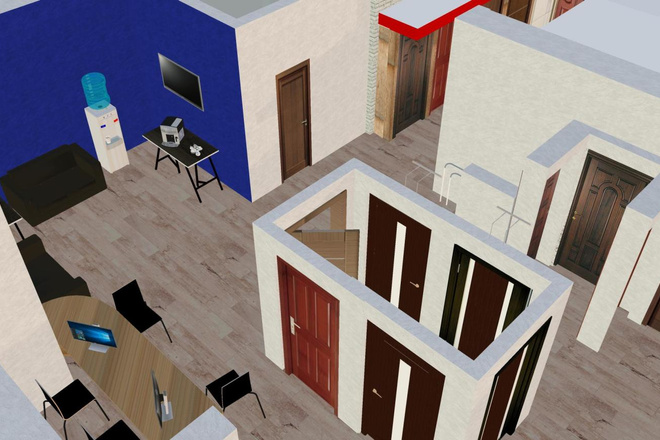 Дизайн придомовой территории в восточном стиле с воротами Тории 5 - kwork.ru
