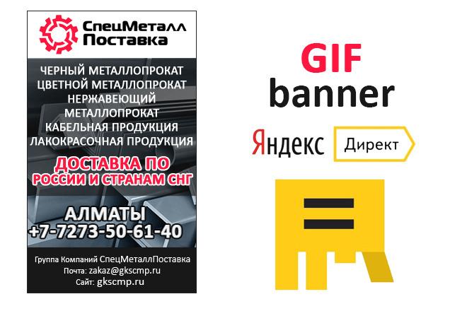 Сделаю 2 качественных gif баннера 71 - kwork.ru