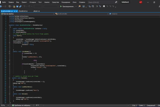 Напишу код для 2д игры в юнити 3 - kwork.ru