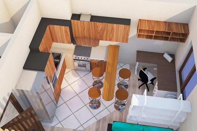 Создам планировку дома, квартиры с мебелью 61 - kwork.ru