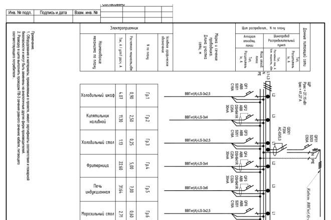 Выполню однолинейную схему электроснабжения 39 - kwork.ru