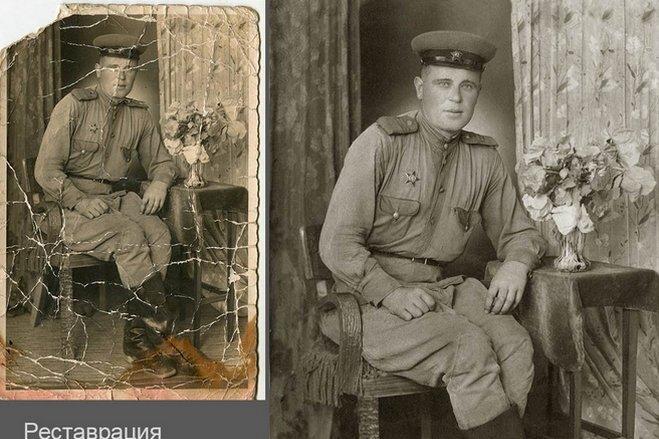 Ретушь И восстановление старых фотографий 21 - kwork.ru