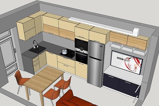 Дизайн-проект кухни. 3 варианта 12 - kwork.ru