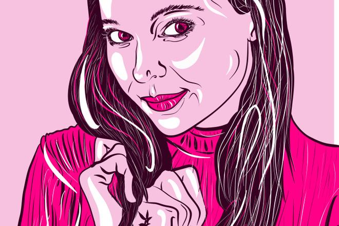 Портрет в стиле Поп - Арт векторный 7 - kwork.ru