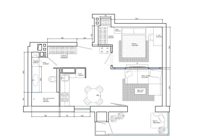 Планировочное решение вашего дома, квартиры, или офиса 3 - kwork.ru
