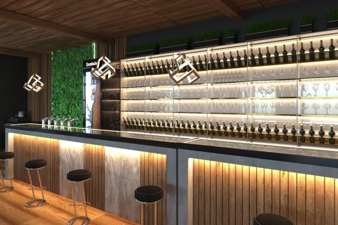 Создам визуализацию дизайна кафе, бара, шаурмечной 6 - kwork.ru